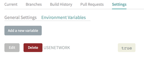 Setting the environment variable in Travis
